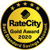 Rate City Gold Award 2020 for Best Standard Savings Account