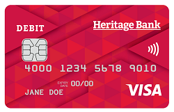 Heritage Bank Visa Debit Card