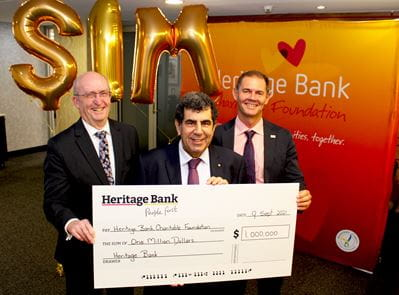 Heritage Bank makes $1 million donation to help people in need