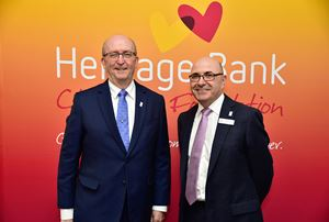 Heritage Bank Charitable Foundation Chair Bill Armagnacq and Heritage Bank CEO Peter Lock
