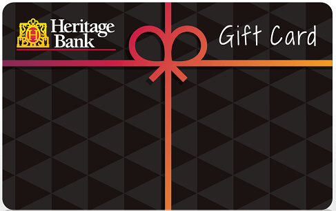 Heritage Bank Prepaid Visa Gift Card