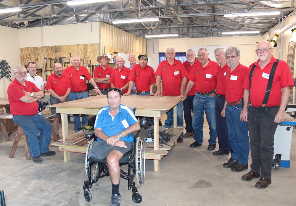 CAPTION: Crows Nest District Men's Shed have received a funding grant from Heritage Bank and Progressive Community Crows Nest (PCCN) to complete a much-needed electrical upgrade.