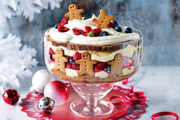 Classic Trifle with Gingerbread Men