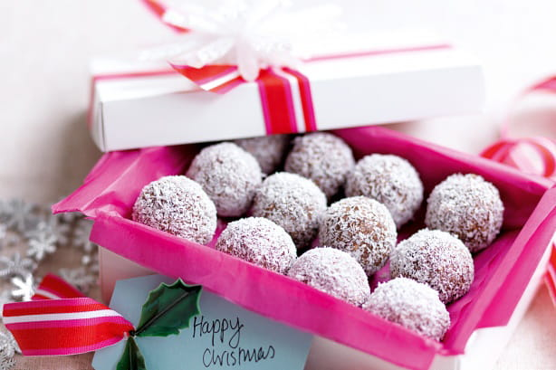 Chocolate Coconut Balls in a Box