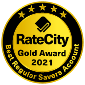 RateCity Gold Award Best Regular Savers Account